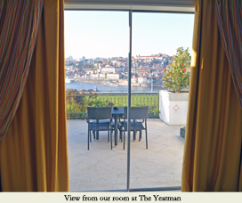 The Yeatman hotel room view